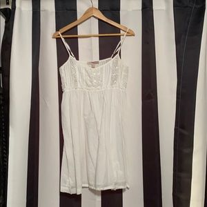 Babydoll white cotton dress